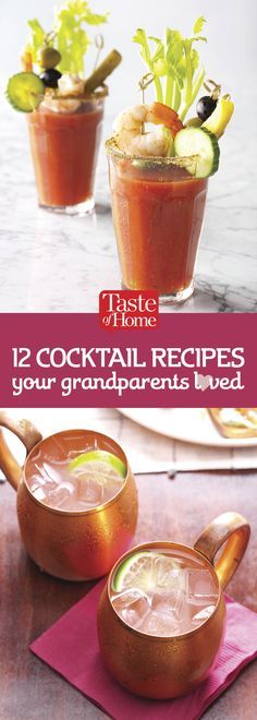 12 Cocktail Recipes Your Grandparents Loved