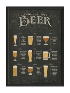 Beer Glassware Poster by The Artwork Factory at Gilt