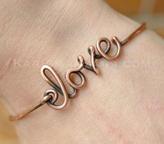 Love Bracelet Bangle. Copper Oxidized by Karismabykarajewelry, $28.00