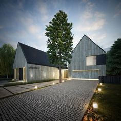 House - B by S3NS Architektura - Igor Kazmierczak, via Behance