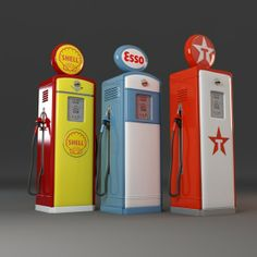 old gas pumps model Old Gas Pumps, Vintage Gas Pumps, Royal Dutch Shell, Pompe A Essence, Soda Machines, Standard Oil, Old Gas Stations, 3d Max, Oil And Gas