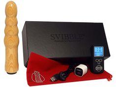 SVIBBLE® ESPRIT Wiederaufladbarer Holzvibrator in Esche Oliv Funkferngesteuert 10 Vibrationsprogramme USB-Ladekabel mit Magnetic Connector Starke Vibration
