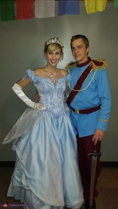 Prince Charming and Cinderella Couple's Halloween Costume Idea