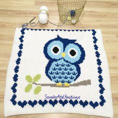 Bobblestitch baby blanket owlblanket handmade crochet örgü elişi baykuş battaniye Bebek battaniyesi