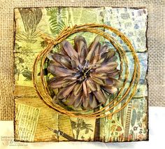 Paper Mosaic Art Work - with 7gypsies Serengeti Collection - African inspired vintage art - Scrap n' Art Online Magazine
