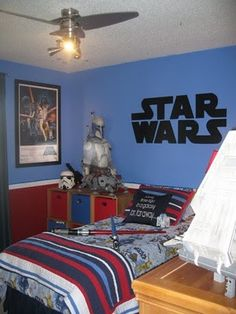 Love This Star Wars Room...wall Colors And Vinyl For Brocku0027s Room?