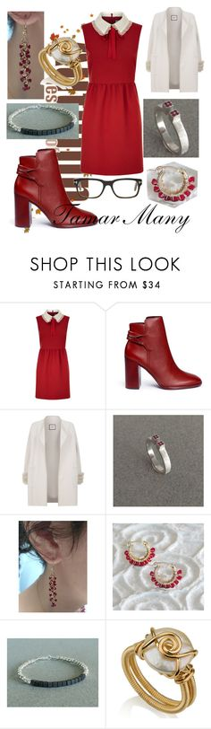 """""""work wear red fall style"""" by tamarmanyjewelry on Polyvore featuring RED Valentino, Mercedes Castillo, Max & Moi, Tom Ford and vintage"""