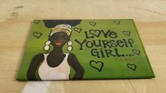 Learn more about this beautiful magnet featuring an inspirational message and African American art. #blackart #atlanta #magnet #homedecor...