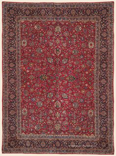 """KASHAN, 10' 6"""" x 14' 2"""" — Circa 1930 —Price: $12,500, Central Persian Antique Rug - Claremont Rug Company"""