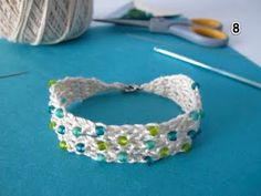 Summer Cotton Crocheted Bracelet ~ Free Pattern! - http://windrosefiberstudio.blogspot.com/2011/04/summer-cotton-crocheted-bracelet-free.html