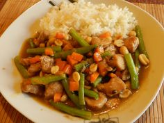 Pollo Kung Pao. Comida China con ingredientes mexicanos. Chinese food with Mexican Ingredients