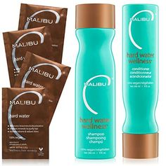 Malibu C Hard Water Wellness Collection Gently eradicate toxins and impurities with this focused trio of noteworthy hair helpers that work collectively to successfully battle buildup and ship a deep… Shampoo For Hard Water, Hard Water Hair, Water 3, Clarifying Shampoo, Sulfate Free Shampoo, Good Shampoo And Conditioner, Low Porosity Hair Products, Hair Cleanse, Products