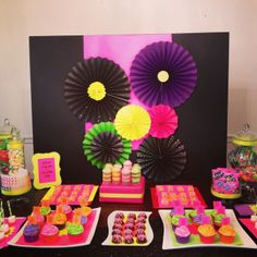 Neon Birthday Party | CatchMyParty.com