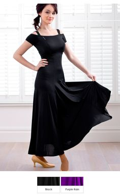 Chrisanne Off The Shoulder Ballroom Dress -Latin Dance Dress, Ballroom Dancing Dress  Love this, great for training and practice. no fuss dress