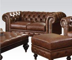 Acme Furniture - Shantoria Loveseat in Dark Brown - 51316