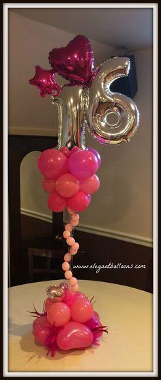 #sweet16 #elegantballoons #prettypinkballoons