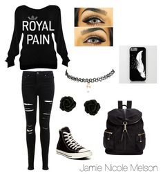 """""""Royal Pain"""" by jamiemelson ❤ liked on Polyvore featuring Miss Selfridge, Converse, Wet Seal and Calvin Klein"""