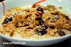 Healthy Sweets, Healthy Recipes, Oats Recipes, Yams, Superfoods, Cereal, Oatmeal, Food And Drink, Snacks