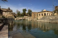 """Katas Raj Temple  Around 900 years old temples. The lake in picture is known as """"Lake of tears"""""""