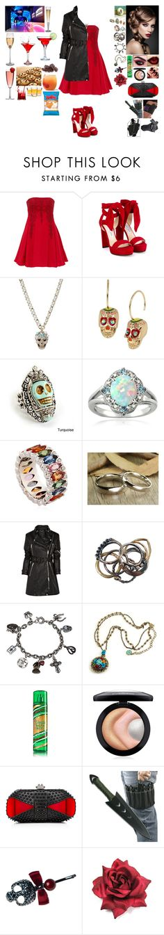 """""""hay i may be a killer but i still like to look pretty"""" by frostedrose ❤ liked on Polyvore featuring Notte by Marchesa, Jimmy Choo, Betsey Johnson, Sweet Romance, Glitzy Rocks, Niquesa, Burberry, Iosselliani, MAC Cosmetics and Christian Louboutin"""
