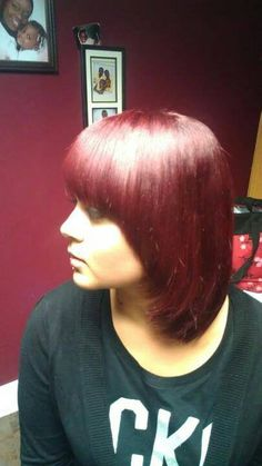 Awesome job by Tamica Campbell Color 7r with a red booster | Kenra Color. Kenra Professional. Hair Color