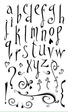 Alphabet Rubber stamps created by Sharie Burris Hand Lettering Alphabet, Doodle Lettering, Creative Lettering, Lettering Styles, Calligraphy Letters, Typography Letters, Fancy Fonts, Cool Fonts, Pretty Fonts