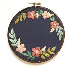 Custom Floral Wreath Hand Embroidery Kit