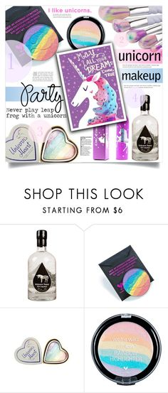 """""""Unicorn Makeup"""" by dolly-valkyrie ❤ liked on Polyvore featuring beauty, Devinah Cosmetics, Lime Crime and unicornmakeup"""