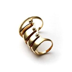 Gold Armor-Dillo Ring by Melody Ehsani, $45