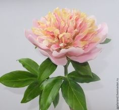 "Peony""Pearl dust"" from polymer clay – shop online on Livemaster with shipping"