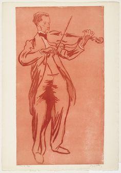 TICMUSart: The Violinist (Le violoniste Supervielle) - Jacques Villon (1899) (I.M.)