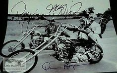 EASY-RIDER-1969-8-10-autographed-RP-lustre-PHOTO-3sigs Easy Rider, Luster, Legends, Hollywood, Movie, Photos, Ebay, Pictures, Cinema