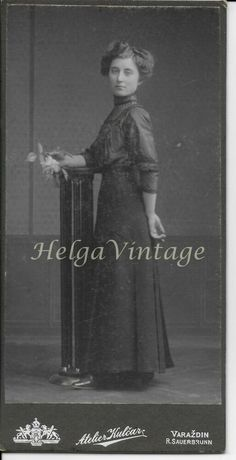 Antique Croatian cabinet photo young lady in black Arthur Kulcar Varazdin Young Women, Vintage Photos, Black Women, Vintage Fashion, Cabinet, Antiques, Lady, Movies, Movie Posters