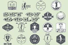 golf labels by Tomass2015 on Creative Market