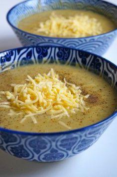 Bloemkool broccoli soep met kaas