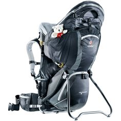 Deuter is one of the leading backpack brands worldwide. Founded in 1898 it has been pioneering premium outdoor equipment for over 115 years. The German brand repeatedly revolutionized the market with innovations such as the first ventilated back system. Backpack Brands, Tumi, Golf Bags, Black And Grey, Backpacks, Sports, Kids, Deuter, Black Granite