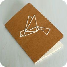 Carnet brodé origami