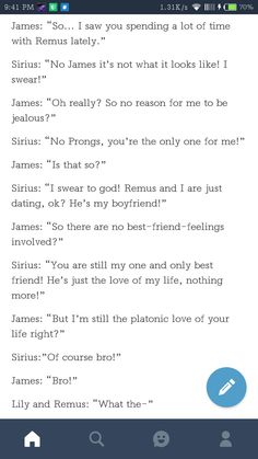 I was so confused at the start bc I love Wolfstar and Jilly but never saw James and Sirius in THAT kind. OMG I'M LAUGHING