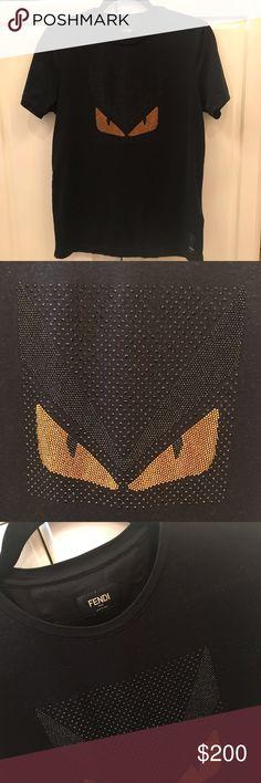 69f0417bac6ed Fendi designer tshirt fendi Fendi Tops Tees - Short Sleeve Fendi Designer