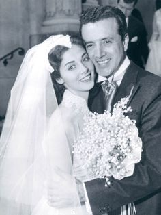Vic Damone and Pier Angeli marry, November 24, 1954 Her true love was james Dean,  Her family arranged this marraige because he was Italian/catholic, she committed suicide later