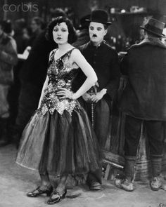 Charlie Chaplin and Georgia Hale in The Gold Rush