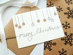Hand-finished Metallic Bauble Christmas Cards Pack by ooopsaDOODLE