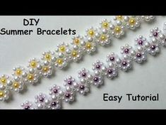 DIY Summer bracelets. Bracelet making tutorial - YouTube