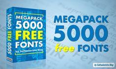 Free Megapack 5000 Fonts / Megapack con 5000 Fuentes Gratis