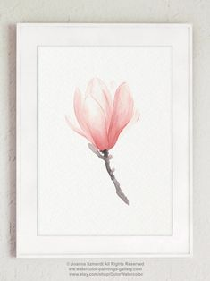 Items similar to Magnolia Peachy Pink Flower Watercolor Poster, Summer Colors Floral Motive Modern Loft Suite Decoration, Scandinavian Nature Style Home Art on Etsy Watercolor Paint Set, Watercolor Canvas, Watercolor Flowers, Watercolour, Magnolia Tattoo, Moon Painting, Magnolia Flower, Plant Art, Abstract Drawings