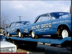 MILNE BROS Mopars on the trailer Cool Car Pictures, Car Carrier, Drag Cars, Drag Racing, Hot Cars, Plymouth, Mopar, Vintage Stuff, Nice Things