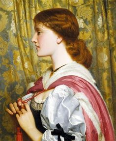 // Painting of the Day: #44 of 364 // 'Silvia' (date not specified) by Charles Edward Perugini. Oil on canvas. 61 x 51 cm (24 x 20.1 in). Signed. Last recorded appearance: Sotheby's auction. Victorian and Edwardian Art, London, England, June 2006. Lot 15. // Found by @RandomMagicTour (https://twitter.com/randommagictour) - Sasha Soren - Book trailer: http://www.youtube.com/watch?v=ImIzIx4IeQQ - Browse (Kindle/print)…