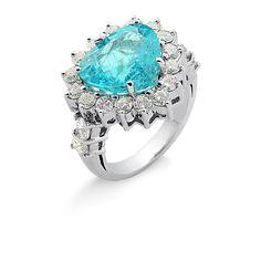 Anel de ouro branco 18k, Turmalina Paraíba e diamantes. 18k white gold ring, Paraiba tourmaline and diamonds. #ring #diamond #paraibatourmaline #anel #diamantes #turmalinaparaiba #luxo #luxury #jewelry #joia @christiantadini