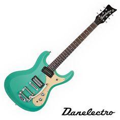 Danelectro '64 Electric Guitar with Bigsby - Dark Aqua
