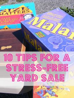 The Complete Guide to Imperfect Homemaking: 10 Tips for a Stress-Free Yard Sale  A list of very simple practical tips for having a yard sale...All things that I tend to forget in the midst of planning (and over-complicating) my own!